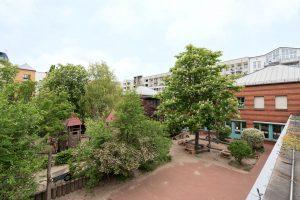 Inakindergarten, Raumfotos, Kita Lützowstrasse, Panorama Garten