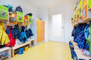 Inakindergarten, Raumfotos, Kita Europacity, Garderobe