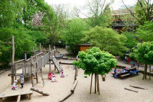 INA KINDER GARTEN Lüneburger Strasse Garten mit Spielplatz