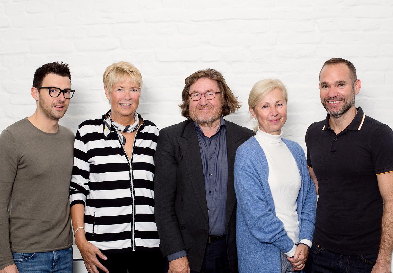 Die Mitglieder des Beirats der INA.KINDER.GARTEN gGmbH (v. l. n. r.): Dr. Felix Bärstecher, Anette Baumann, Serv Vinders (Vorsitzender), Dr. Annette Dreier, Dr. Tal Pery