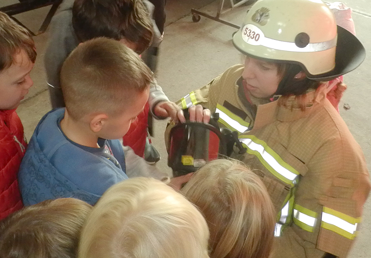 Da werden Träume wahr: Besuch bei der Feuerwehr