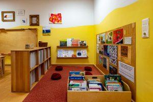 Inakindergarten, Raumfotos, Kita Neue Steinmetzstrasse, Kinderbuch Bibliothek