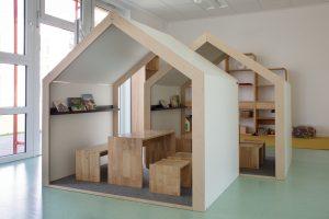 Inakindergarten, Raumfotos, Kita Finchleystrasse, Spielhäuser
