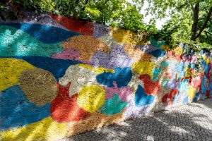 Inakindergarten, Raumfotos, Kita Neue Steinmetzstrasse, bemalte Wand