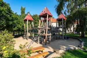 Inakindergarten, Kitaportrait, Preussstrasse, Klettergerüst