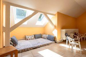 Inakindergarten, Kitaportrait, Preussstrasse, Schlafecke mit Dachfenster