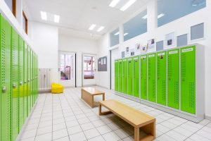 Inakindergarten, Raumfotos, Kita Bülowstrasse, Garderobe