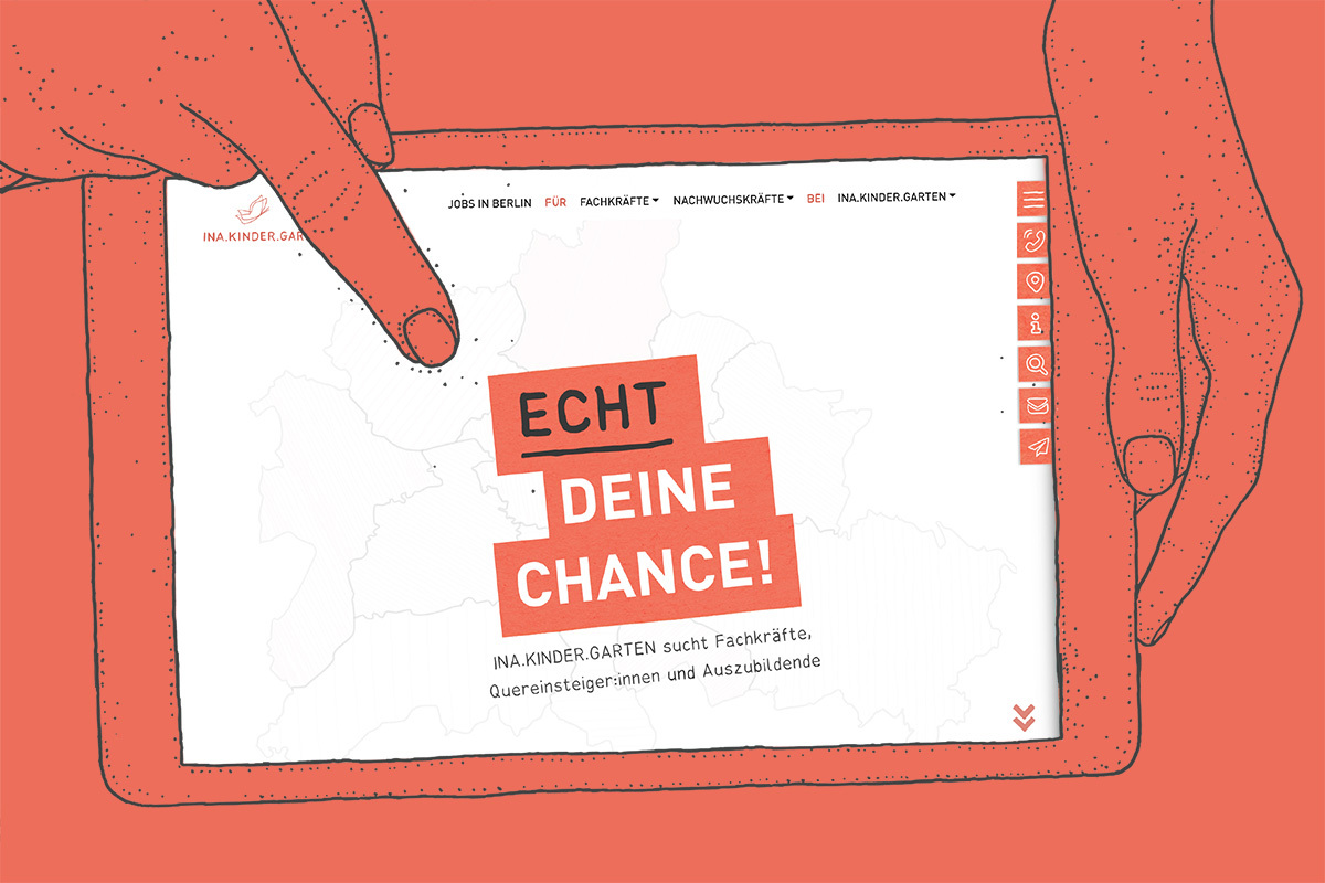 Echt deine Chance: INA.KINDER.GARTEN sucht Mitarbeitende mit neuer Kampagne