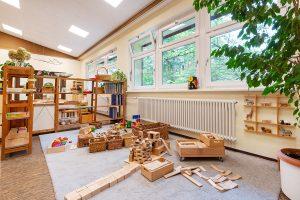 Inakindergarten, Raumfotos, Kita Seestraße, Holzbausteine