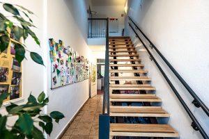 Kita Rudolf-Ditzen-Weg, Treppe