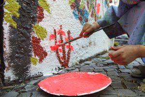 Meldung, News, Blog, Kita Neue Steinmetzstraße, Kinderkünstezentrum, Streetart
