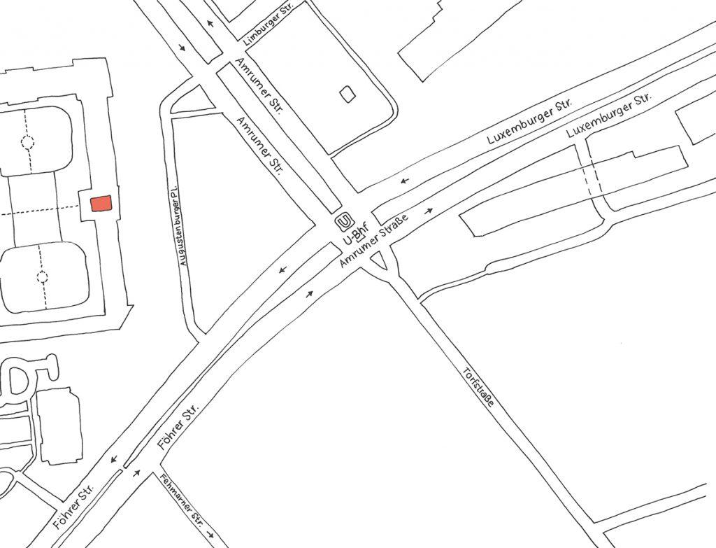 inkakindergarten, Straßenkarte Kita Augustenburger Platz
