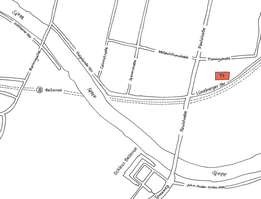 INA.KINDER.GARTEN Lüneburger Straße Straßenkarte