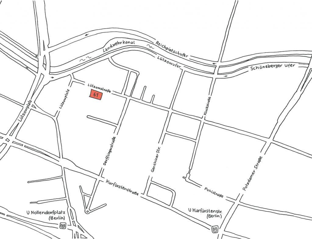 INA.KINDER.GARTEN Lützowstraße Straßenkarte